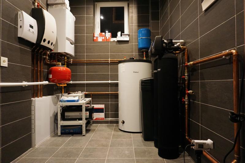 газовая котельная в загородном доме, автоматика, фильтрация воды