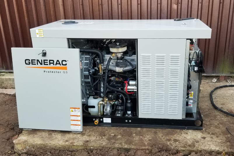 Установка газового генератора Generac
