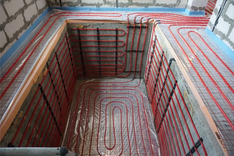 Теплый пол под бассейн